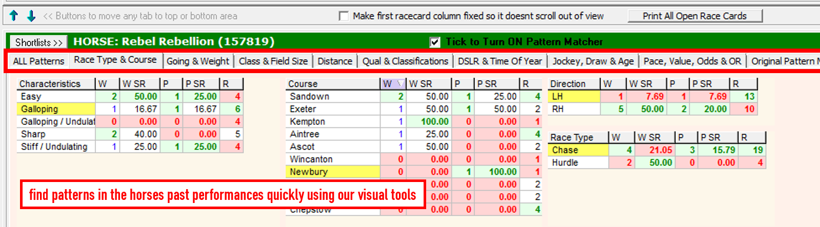 Horse Racing Software & Race Guide Cards | Proform Racing