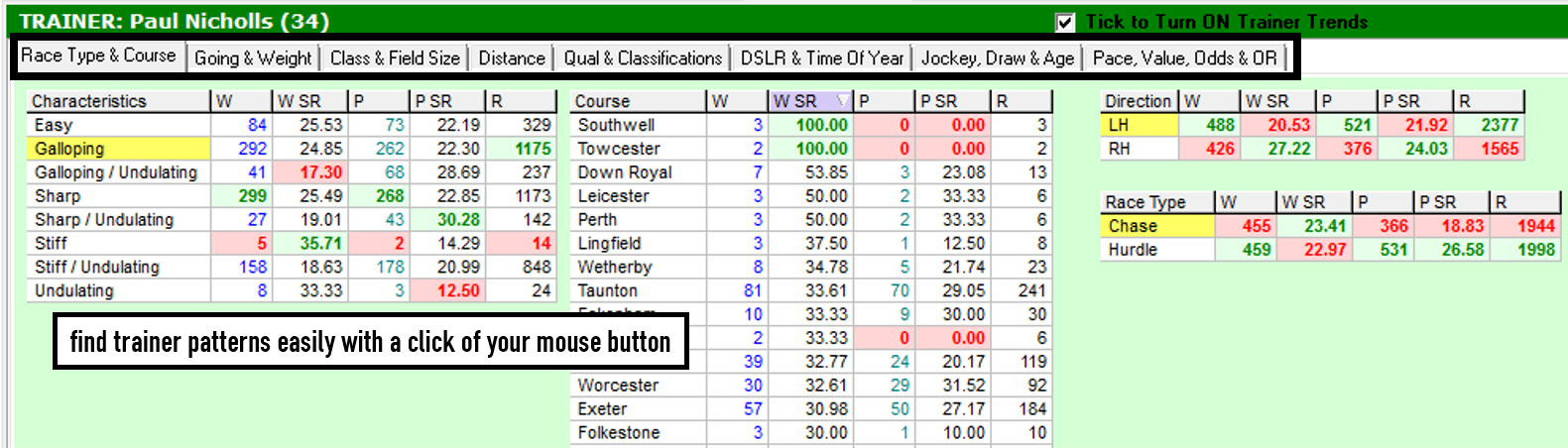 Horse Racing Software Race Guide Cards Proform Racing